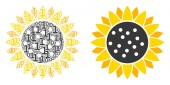 Sunflower Composition of Binary Digits