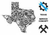 Collage Texas Map of Repair Tools
