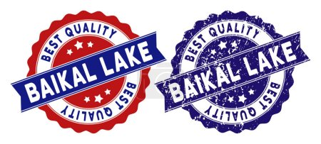Baikal Lake Best Quality Stamp with Grunge Surface