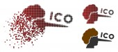 Disappearing Pixelated Halftone ICO Lier Icon