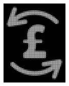 White Halftone Refresh Pound Balance Icon
