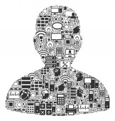 User Collage Icon for BigData and Computing