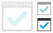 Valid Day Calendar Page Vector Mesh 2D Model and Triangle Mosaic Icon