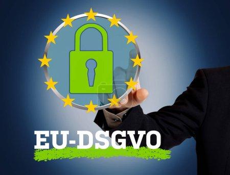 Photo for General Data Protection Regulation, German text: DSGVO (EU-Datenschutz-Grundverordnung - Royalty Free Image