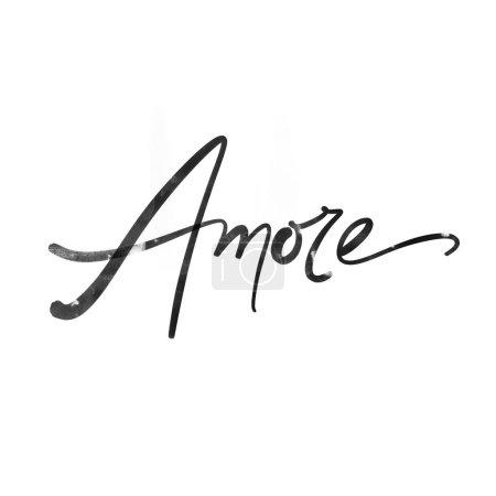 Photo pour J'adore la calligraphie. Inscription matricielle pleine grandeur - image libre de droit