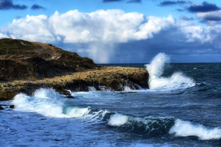 Photo for Storm on black sea in autumn - Royalty Free Image