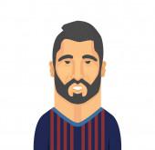 Luis Suarez vector illustration