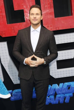 Photo for Chris Pratt at the Los Angeles premiere of 'The Lego Movie 2: The Second Part' held at the Regency Village Theatre in Westwood, USA on February 2, 2019. - Royalty Free Image