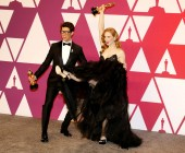 Guy Nattiv and Jaime Ray Newman at the 91st Annual Academy Awards - Press Room held at the Loews Hotel in Hollywood, USA on February 24, 2019.