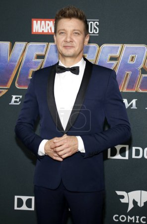 Photo for Jeremy Renner at the World premiere of 'Avengers: Endgame' held at the LA Convention Center in Los Angeles, USA on April 22, 2019. - Royalty Free Image