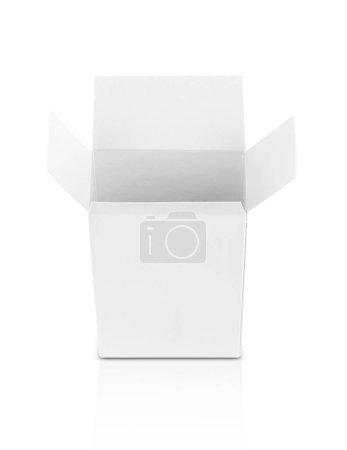 White Paper öffnete Schachtel für Produktdesign-Attrappe