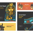 Vector set of four banner design with Ancient Egyp...
