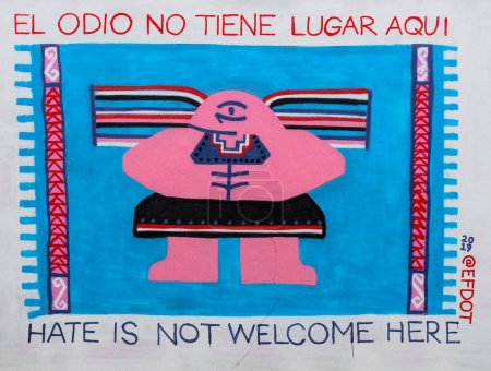 Oaxaca, Mexique - 2019-11-16 - Sign says hate is not welcome here