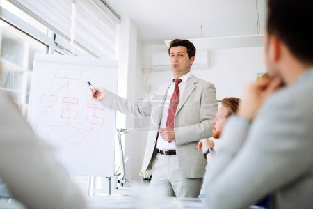 Conférence et formation dans le bureau d'affaires pour les collègues cols blancs
