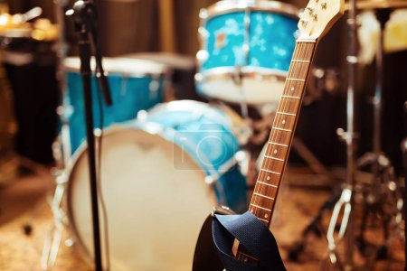 Guitar drums and studio equipment and other instruments