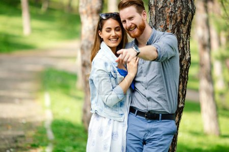 Photo for Couple in love enjoying life in nature - Royalty Free Image