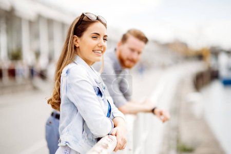 Beautiful woman waiting for he guy to approach her