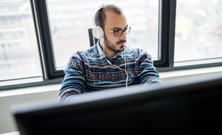 Photo for Software engineer programming in office at work - Royalty Free Image