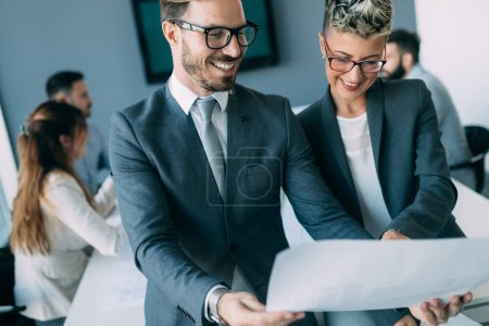 Photo for Business people conference and meeting in modern office - Royalty Free Image