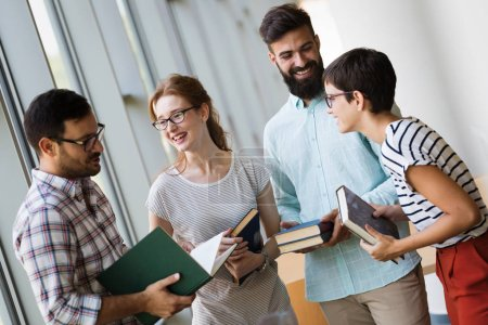 Photo for People, knowledge, education library and school concept - Royalty Free Image