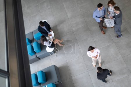 Photo for Group of architects and business people working together and brainstorming - Royalty Free Image