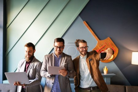 Photo for Successful young business group of people at work in office - Royalty Free Image
