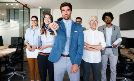 Photo for Group of unsuccessful business people and badly managed company - Royalty Free Image