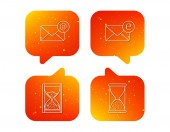Mail e-mail and hourglass icons