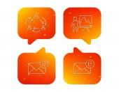 Teamwork presentation and e-mail icons