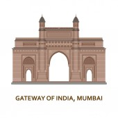 Gateway of India Mumbai Indian most famous sight Architectural building Famous tourist attractions Vector illustration