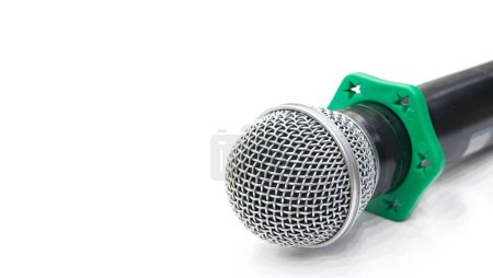 isolated microphone on white background