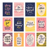 Modern vector calligraphic posters with inspirational quotes