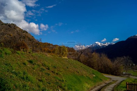 Colorfull Panorama at spring in a sunny day