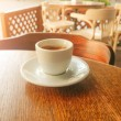 Coffee cup on the table at a cafe...