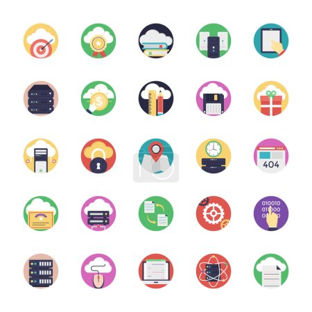 Database and Cloud Technology Icons