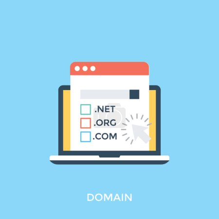 Flat icon design of domain name system