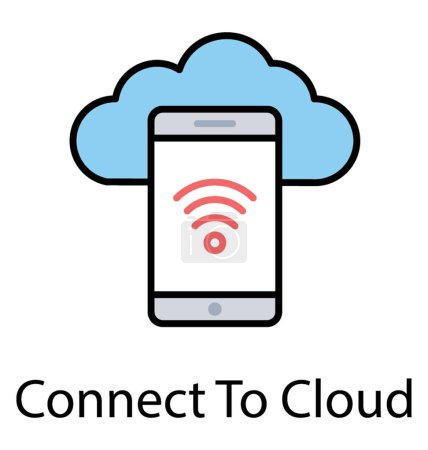 Mobile with cloud computing connected through hotspot, mobile cloud drive