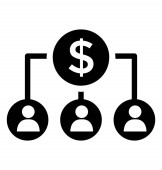A dollar sign making branches further depicting finance organization