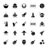 Star wars glyph icon pack