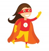 Superhero cartoon carol danvers