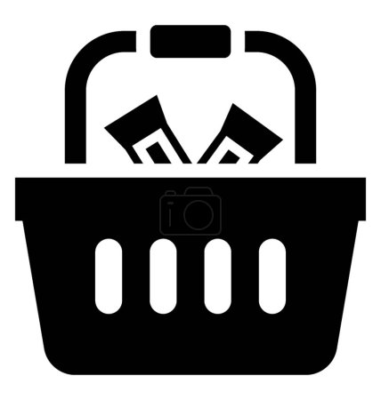 Basket used in grocery stores to keep items, grocery basket