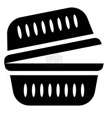 Basket used in homes to keep items, grocery basket
