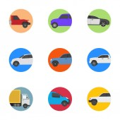 Different Vehicles Flat Icons