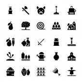 Gardening Glyph Vector Icons