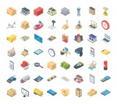 These are isometric icons on the theme of logistics Shipping and delivery have become common and popular with the rise of e-commerce concept This pack has wide range of isometric  icons to accommodate logistics delivery packaging and shipping