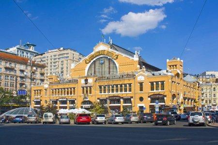 Photo pour Kiev, Ukraine - 1er août 2018: Bessarabsky Halle à Kiev - image libre de droit