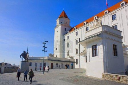 BRATISLAVA, SLOVAKIA - April 1, 2019: Bratislava Castle in sunny day