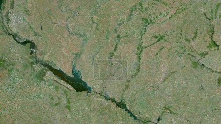 Photo pour Poltava, région d'Ukraine. Imagerie satellite. Forme tracée contre sa zone de pays. rendu 3D - image libre de droit
