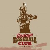 Vintage Baseball Club Badge vector illustration