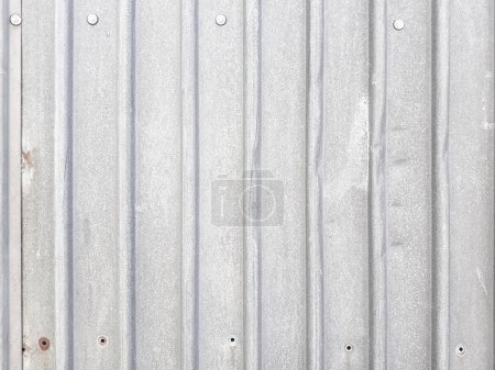profiled metal sheet silvery background dented